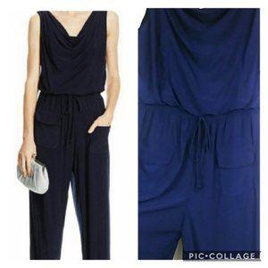 Emma & Michele Blue Jumpsuit